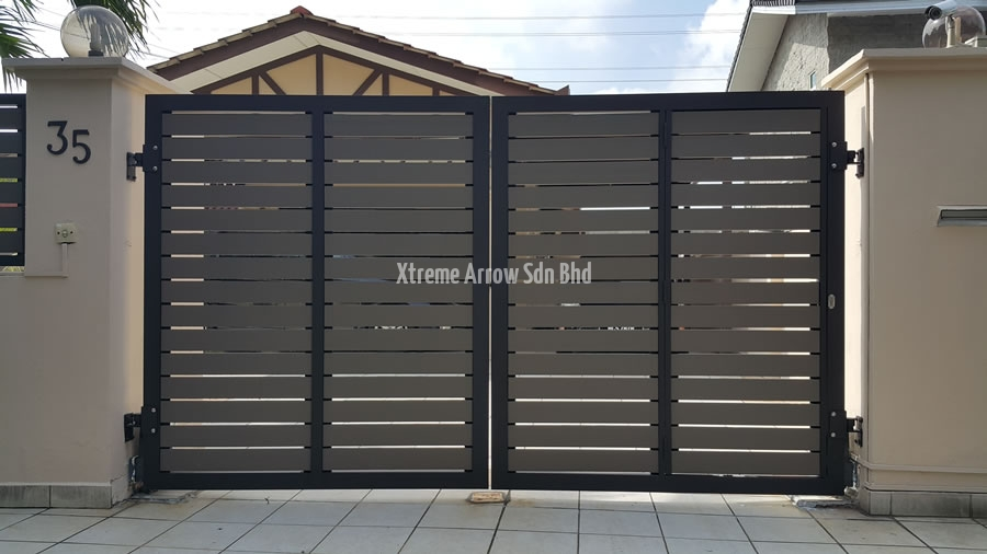 Stainless steel gate aluminium auto gate gallery for Modern main gate designs
