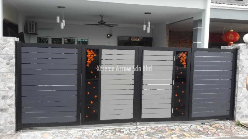 aluminium auto gate 07. Stainless Steel Automatic Gate   Auto Main Gate Design   Glass