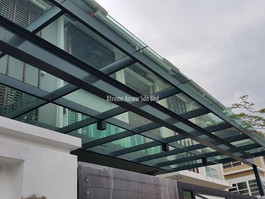 Pergola glass roof interiors design for Glass roof design