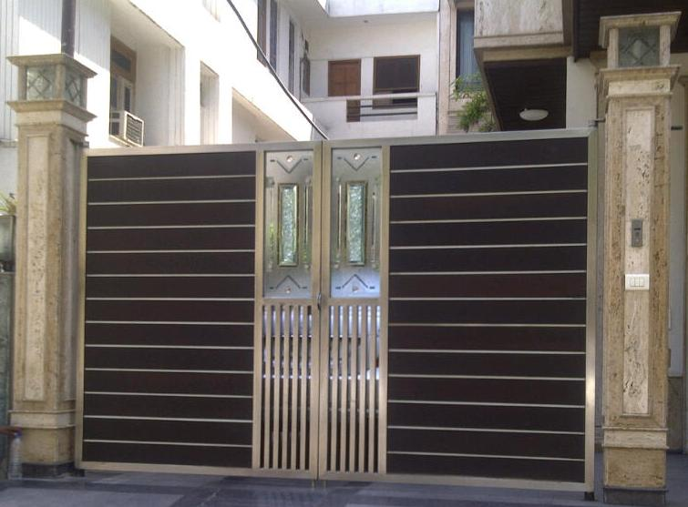 Stainless steel gate stainless steel main gate or for Sliding main door