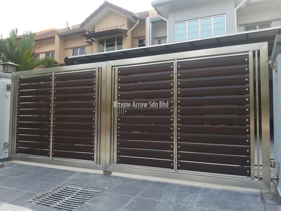 stainless steel gate 02 - 10+ Main Gate Single Gate Design For Small House Gif
