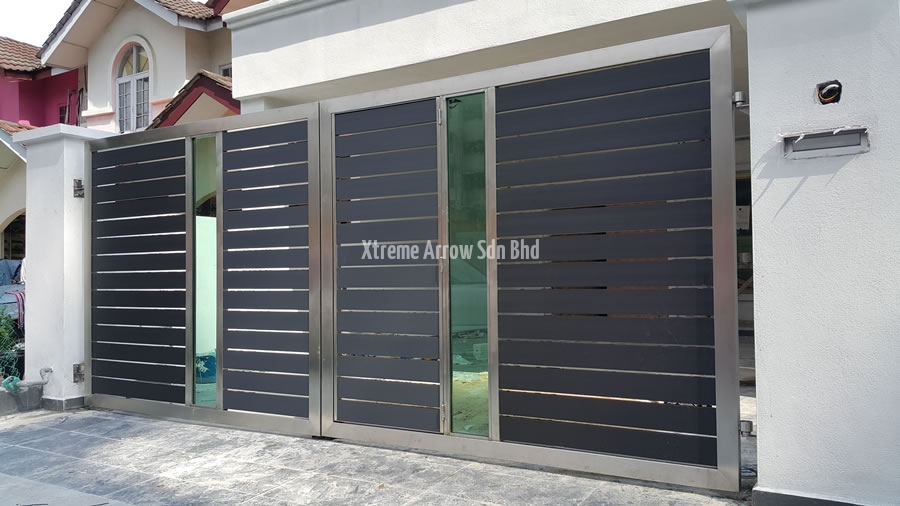 Front Elevation Of House In Sri Lanka : Beaugates aluminium gate stainless steel auto